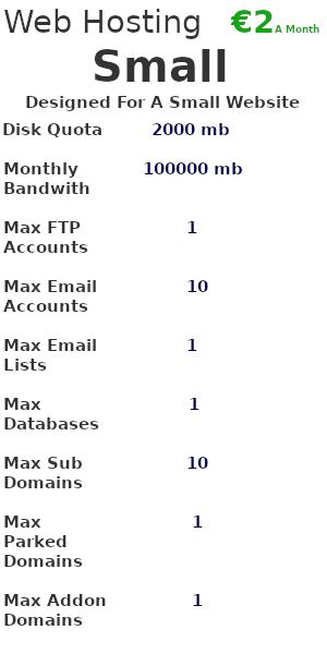 Webhosting Small